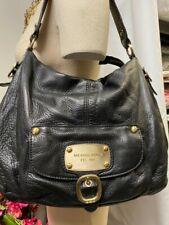 Michael Kors Black Pebbled Leather Hobo Slouch Shoulder Handbag Front Pocket