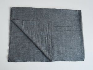 100% Dark Grey Cashmere Shawl Pashmina Scarf Wrap Stole Women Wool Soft Warm 1