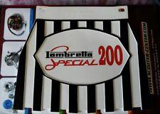 Lambretta Black white & Red 200 Special Genuine Cuppini Mudflap Rubber Type