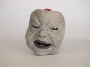"C. MARC BURT Fiber Art Fabric Head Fine Contemporary Art Sculpture ""MANDRAKE"""