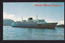 vintage MV Malaspina Ferry Alaska Marine Highway ship postcard