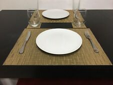 Placemats and Coasters (set of 4) Bamboo Amber