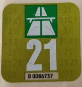 Bollino Contrassegno vignetta autostradale svizzera ch 2021 . Perfetta