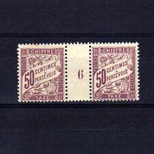 FRANCE Taxe n° 37 neuf avec charnière - Paire millésime 6