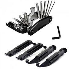 Folding Tire Repair Kit Multi Tools Bicycle Road City Mountain Bike Mechanic Set