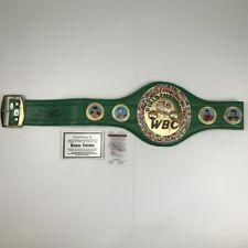 Autographed/Signed GEORGE FOREMAN WBC Boxing Replica Championship Belt JSA COA
