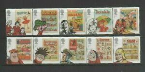 GB 2012 Comics Mint MNH Set in 2 Strips  10 x 1st