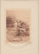 Gentle Persuasion, by Louis Icart, original 1946 erotic etching