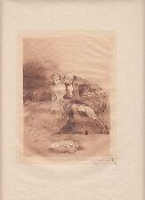 Gentle Persuasion, by Louis Icart, original 1946 erotic etching on Japon paper