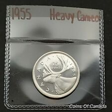 1955 Canada Silver 25 Cent UNCIRCULATED Coin With Heavy Cameo WOW #coinsofcanada