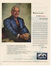 1945 ORIGINAL VINTAGE UPJOHN PHARMACEUTICAL MEDICAL MAGAZINE AD