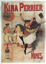 Affiche Originale KINA PERRIER Nîmes - French Aperitif Corrida Danse Feria