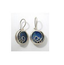 Special 925 Sterling Silver Ancient Roman Glass Earrings -Israeli Jewelry
