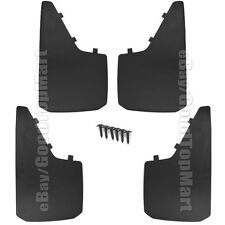 "Universal Car Truck Tire Mud Splash Guard Flaps 4PC Set Front Rear 18""x 11"" Set"