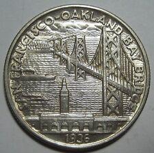 = 1936-S AU/BU BAY BRIDGE San Francisco Commemorative Half, FREE Shipping