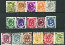 Alemania - 1951-52 Conjunto de 16 valores SG 1045-60 muy fino utilizado V20048