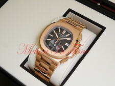 Patek Philippe 5980/1R-001 Nautilus 18K Rose Gold on Bracelet 40.5mm Chronograph