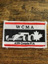 Vtg WCMA ASN Canada FIA Embroidered Sew On Patch Indy Formula Racing F1 Badge
