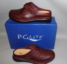 NEW Women's PG Lite #6606 Size 7 Medium Cabernet Leather Supportive Clog