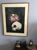 Fritz Scholder: SKULL & HEART #1; Original Unique Signed and Titled Monotype