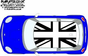 Mini Inverted Union Jack flag graphics stickers decals F56 One Cooper