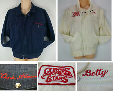 RARE Circus of the Stars Cast and Crew Denim Jacket Betty Charles Aidman Set Vtg