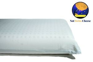 Standard Size Firm Profile Dunlop Latex Foam Pillow Affordable-Not Swiss Cheese