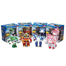 NEW Robocar Poli Transformers Deluxe Poli, Roi, Amber, Heli Animation 4pcs Set