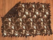 "Brown Horse Theme Fleece Tie Blanket 54""x34"""