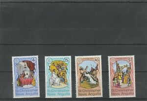 St Christopher Nevis Anguilla 1975 Easter  Set of 4 MNH Scan 1985