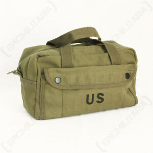 Khaki US Army Tool Bag - Wash Toiletry Case Pack Military Travel Soldier USA New