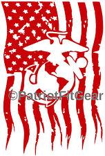 Marines,USMC,3%,Flag,Threeper,Semper Fi,Marine Corps,Military,Vinyl Decal