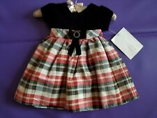 Youngland Dress Size 24 Months Black Velour Christmas  NWT
