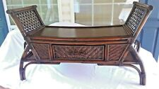 "WICKER/BAMBOO TABLE BENCH W DRAWER ""BY PIER 1 IMPORTS"""