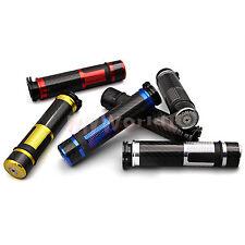 """7/8"""" Carbon Fiber Handlebar Hand Grips Bar For Kawasaki ZX 6R 7R 9R 12R 14R ZZR"""