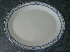 Dudson Duraline Stoke-on-Trent Finest Vitrified oval plate floral type border