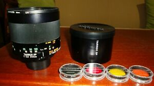 Tamron SP 350mm Mirror Lens 42mm. Adaptall 2 with lens hood.