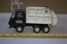 Vintage 60's Mini Tonka Garbage Truck WHITE & BLUE WOW  JSH