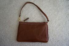 Heartland All Leather British Tan Italian Weather Wristlet Bag Purse Wallet NICE