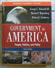 Government in America,12th Ed 12E People,Politics,Policy AP Ed.Edwards HC