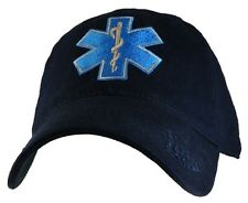 Military EMT Hat with Logo Navy Cap Adjustable Strap Closure
