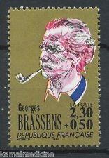 Georges Brassens, Singer-songwriter & Poet, Music, France 1990 MNH