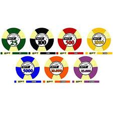Sample pack fiches EPT European Poker Tour Replica 2007 ceramica bordi allineati