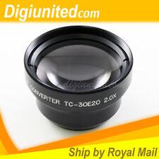 30 mm 30mm 2.0x Tele 2x Telephoto Camera Lens Converter for Canon Sony Nikon