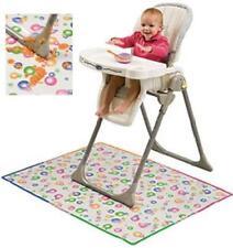 Mommy's Helper Splat Mat Baby High Chair Mess Floor Protector - CLEAR w/ Design