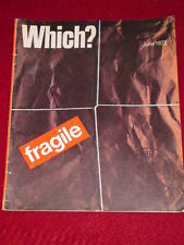 WHICH? - FRAGILE - June 1972
