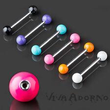 Tongue Piercing Barbell Enamel Balls enamelled Bar Nipple Piercing Z374