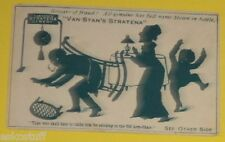 Van Stan's Stratema Mending Cement - Glued To Chair 1890s Color Ad Card NiceSEE!
