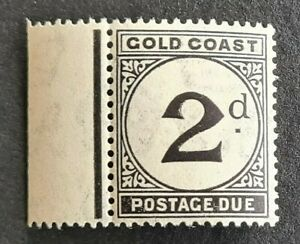 STAMPS GOLD COAST 1923 POSTAGE DUE 2d MINT HINGED - #4778