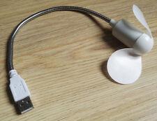 Ventilateur USB spécial cannicule pour ordinateur, orientable, pales souples